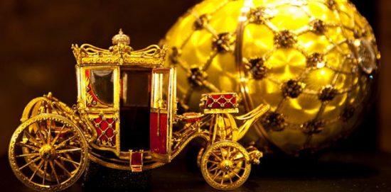 Rucni rad, malena zlatna kocija i jaje